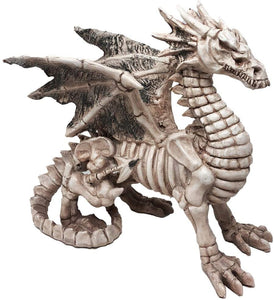 Pacific Giftware Exclusive Gothic Skeleton Winged Dragon Sculpture Statue Ghost Alchemy Fantasy Halloween Figurine