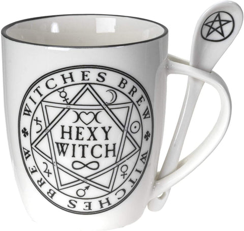 Witches Brew Hexy Witch Mug and Spoon