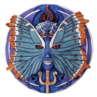 Psyche Spirit Goddess of Growth & Transformation Round Wall Plaque by Oberon Zell