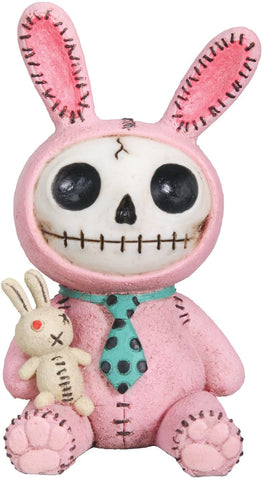 SUMMIT COLLECTION Furrybones Pink Bun Bun Signature Skeleton in Bunny Costume with Bunny Doll