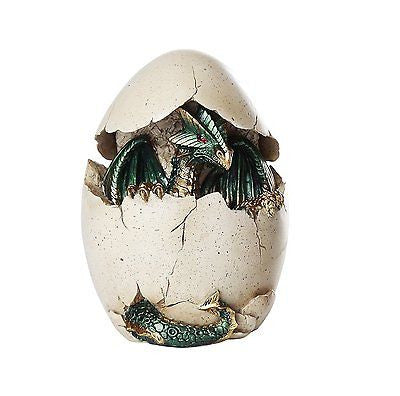 Dragon Hatchling Emerging From Egg with LED Light Collectible 6H