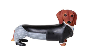 Adorable Doxies Collection Wedding Groom Tuxedo Doxie Dachshund Figurine