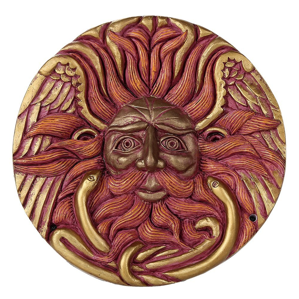 Sun God Belenos Sol Round Wall Plaque by Oberon Zell