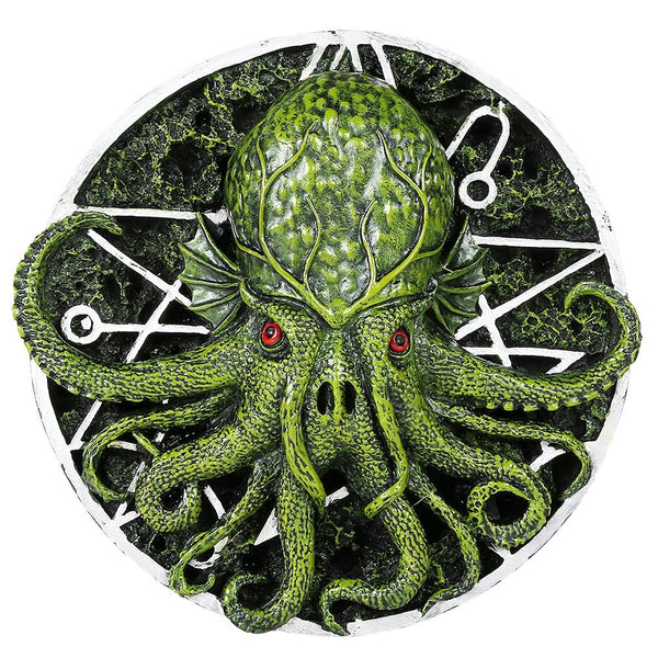 Cthulhu Octopus Kraken Round Wall Plaque by Oberon Zell