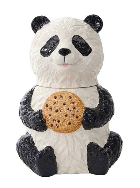 Chinese Panda Bear Chocolate Chip Cookie Ceramic Cookie Jar Kitchen Decor