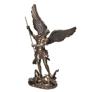 Bronze St. Michael Defeating Satan Statue 8434