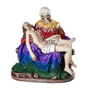 Santa Muerte Piadosa La Pieta Compassion Of the Holy Death Saint Religious Statue 7 Powers Santisima Muerte Sculpture