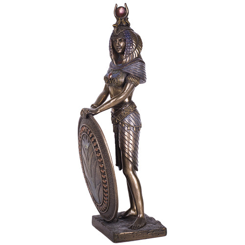 Standing Isis Statue Egyptian Goddess Bronze Finish