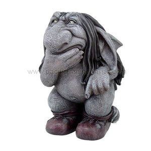PTC Pondering Troll Gargoyle with Boots Decorative Statue Figurine