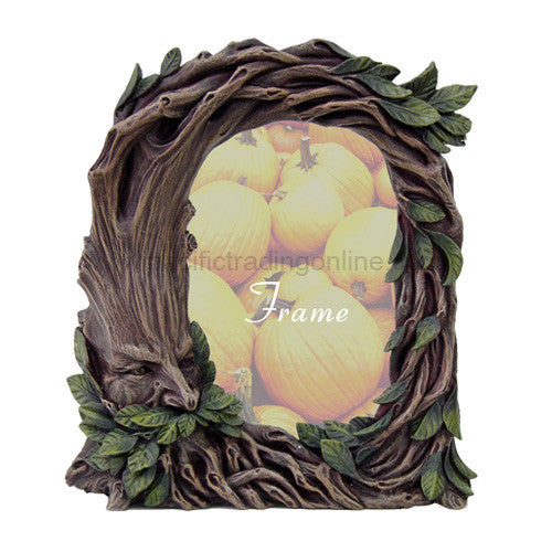 PTC 8 Inch Greenman Tree Embellished Picture Frame Statue Figurine