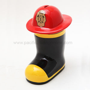PTC 8 Inch Ceramic Fill The Boot Savings Piggy/Coin/Money Bank
