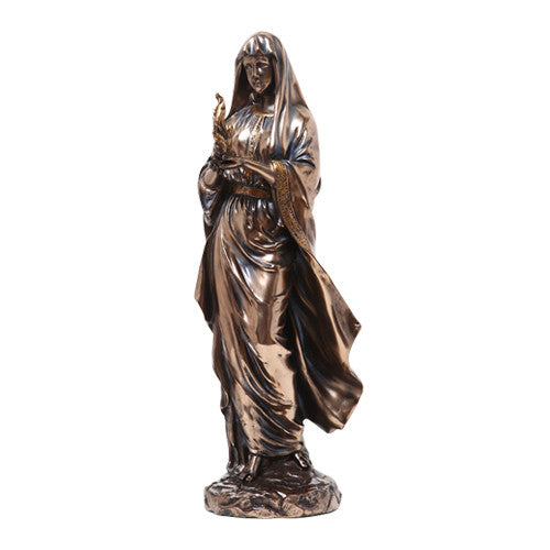 PTC 12 Inch Hestia in Robes Grecian Goddess Resin Statue Figurine
