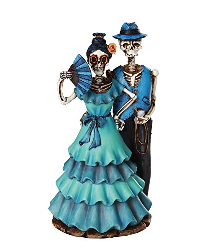 Day of the Dead Celebration Skeleton Couple Figurine 8 inch