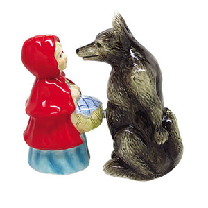 1 X Lady And Wolf Attractives Salt Pepper Shaker Made of Ceramic