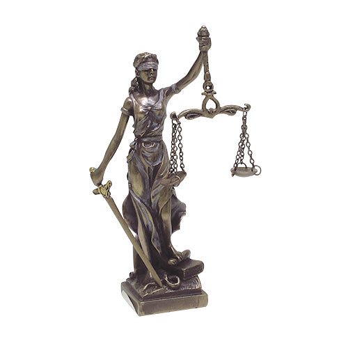 PTC 9194 Small Lady Justice with Scales and Sword Statue Figurine, 5""