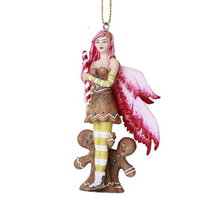 Christmas Fairy with Gingerbread Hanging Ornament Amy Brown Holiday Christmas Tree Ornaments