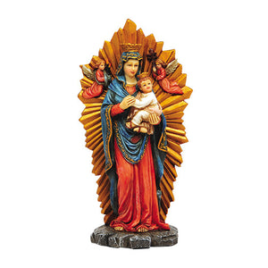 Our Lady of Perpetual Help Marian Icon Figure 6 Inch Stone Statue Religious Decoration