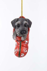 Mini Schnauzer Puppy Decorative Holiday Festive Christmas Hanging Ornament