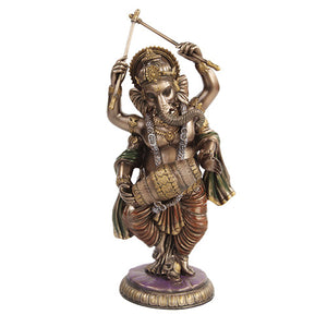 PTC 9.25 Inch Dancing Ganesha Mythological Hindu Statue Figurine