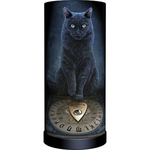 """His Master's Voice"" Black Cat w/ Ouija Spirit Round Lamp"