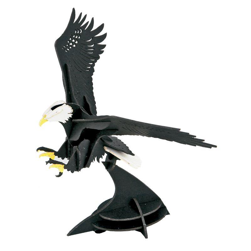 Japanese Art of Paper Craft Bald Eagle  Premium 3D Paper Puzzle Educational Model Kit Challenge Gift Made in Japan