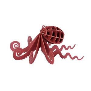 Japanese Art of Paper Craft Ocean Octopus Premium 3D Paper Puzzle Educational Model Kit Challenge Gift Made in Japan