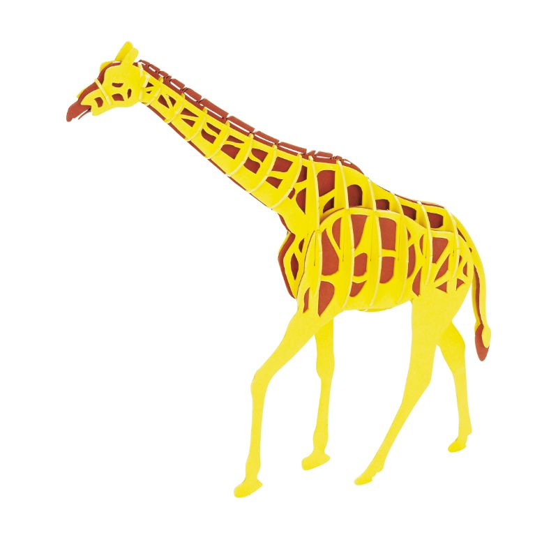 Japanese Art of Paper Craft Giraffe Premium 3D Paper Puzzle Educational Model Kit Challenge Gift Made in Japan