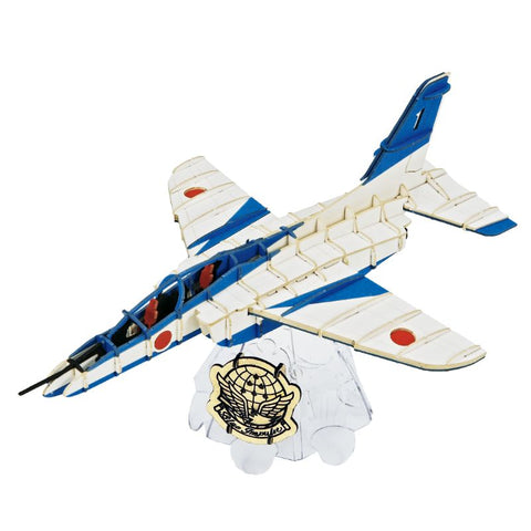 Japanese Art of Paper Craft Japanese Air Force Blue Impulse Jet 116 pieces Premium 3D Paper Puzzle Desktop Craft Art Made in Japan