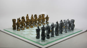 King Arthur Chess Set with Glass Board