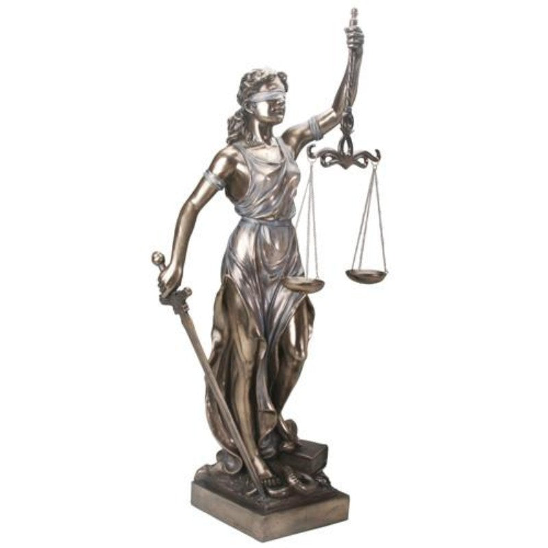 "New! 36"" Justitia Lady Scales of Justice Statue"