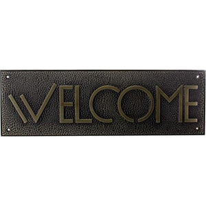 YTC Rectangle Shaped Exhibition Welcome Sign in Gold Colored Framing