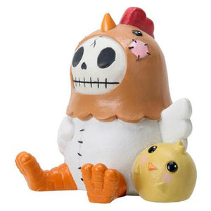 SUMMIT COLLECTION Furrybones Nugget Signature Skeleton in Chicken Costume with Baby Chick