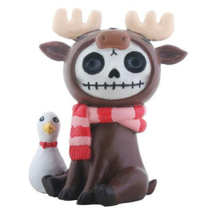 YTC Furrybones Spruce Moose with Duck Character Themed Decorative Figurine