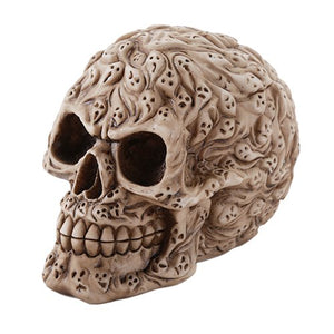 Spirit Ghost Print Skull Money Bank Desktop Figurine 4.75 Inch Halloween Decor Gift