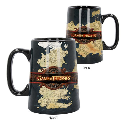Ceramic Legends of the Swords Game of Thrones Dragon Mug Tankard Sigil Map