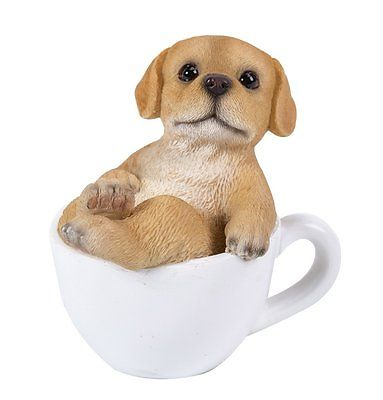 Labrador Puppy Adorable Mini Teacup Pet Pals Puppy Collectible Figurine 3.25""