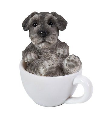 Mini Schnauzer Adorable Mini Teacup Pet Pals Puppy Collectible Figurine 3.25""