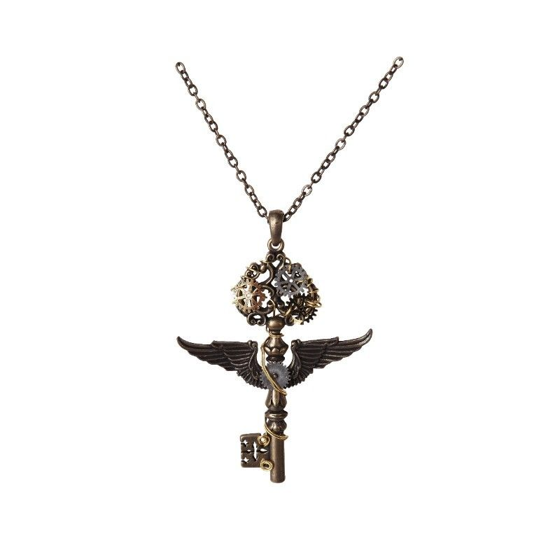 Victorian Retro Gearworks Steampunk Key Unisex Lead Free Alloy Necklace