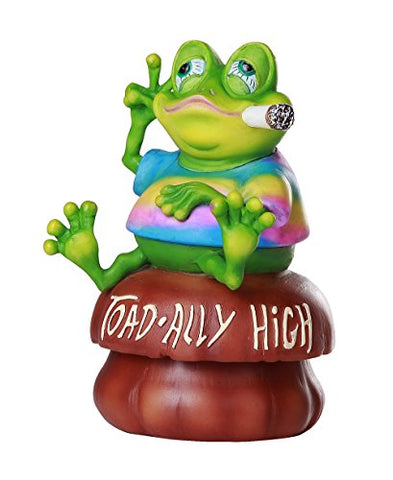 """Toad-ally High"" Weed Smoking Toad Trinket Box Novelty Stash Box"