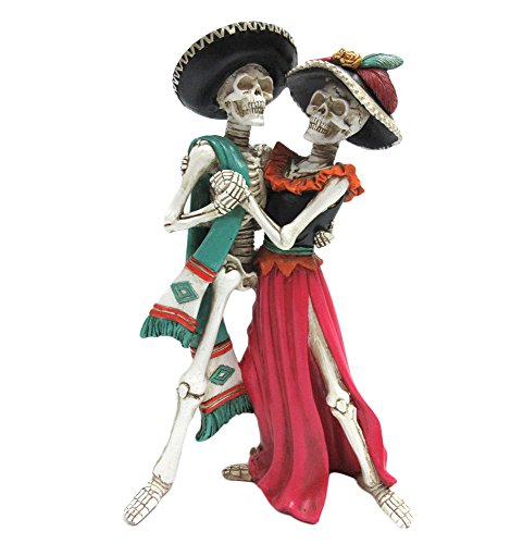 Day of the Dead Celebration Skeleton Couple Dancing Figurine