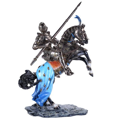 Large Color Cavalry Medieval Knight on Horse with Stand