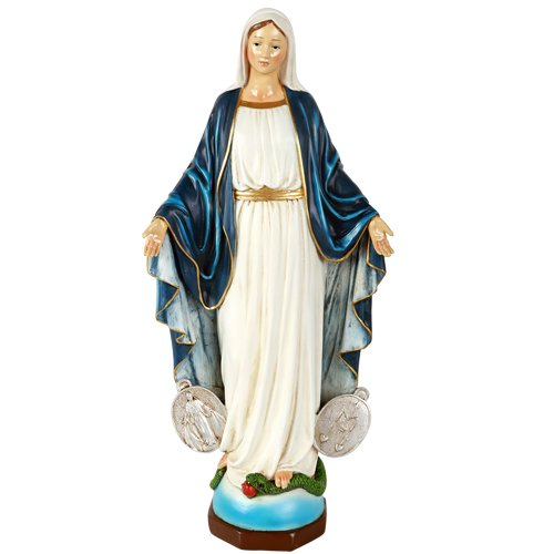 Our Lady of Miraculous Medal Lady of Grace Mary Collectible Figurine 16 Inch