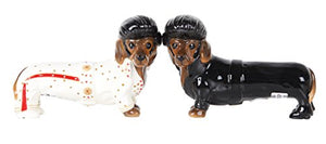 Adorable Elvis the King of Rock & Roll Doxies Salt and Pepper Shaker Set Cute Dachshund Wiener Dog Tabletop Decoration SP Set