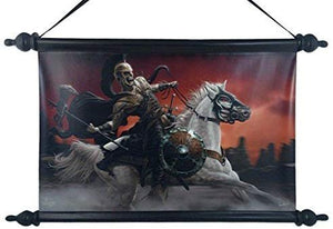 12 Inch Dark Knight Mystical Fantasy Hanging Wall Art Scroll