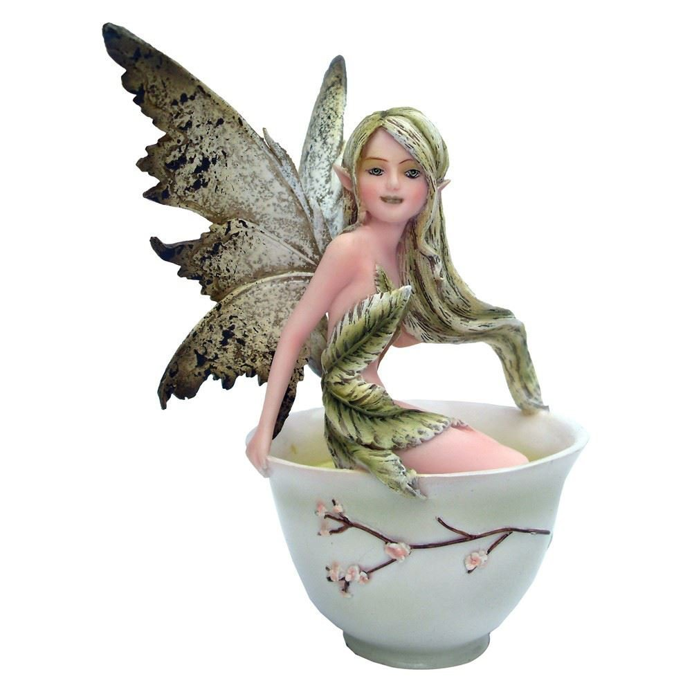 Green Tea Faery- Tea Cup Faery Collection by Amy Brown Fantasy Art