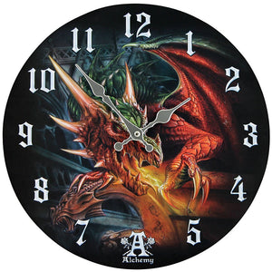 Draco Basilica Decor Wall Clock Round Plate Diameter 13.5""
