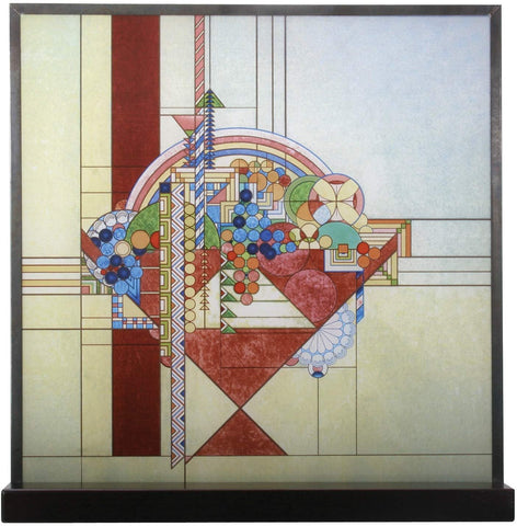 YTC Frank Lloyd Wright May Basket Stained Glass