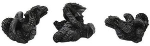 Dragon See Hear Speak No Evil In Faux Stone Finish Made of Polyresin …