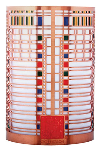 YTC Summit 3.25 Inch Frank Lloyd Wright Martin House Casement Votive Holder, Multi Color