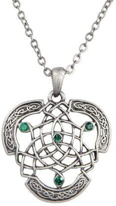 Celtic Knotwork Pewter Necklace Jewelry- Mystica Collection